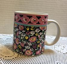 Vintage Ken Cornet Design Otagiri Japan Coffee Mug // Retro Stoneware Fl... - $9.00