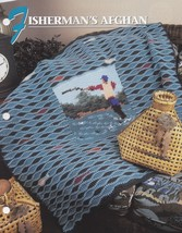 Fisherman's Afghan, Annie's Crochet Quilt & Afghan Pattern Leaflet QAC35... - $2.95