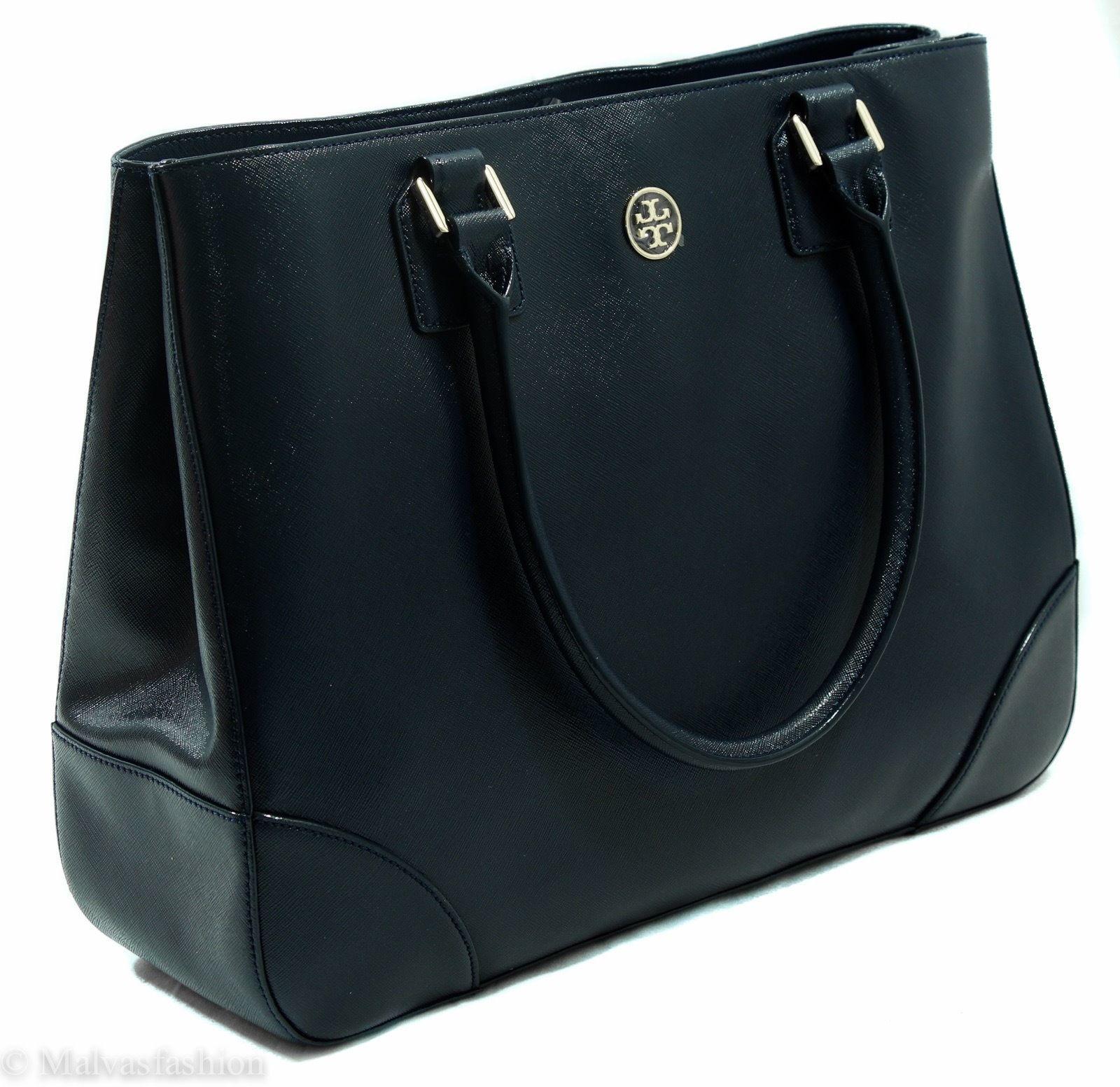 NWTTory Burch Robinson East/West Tote Handbag Bag, Blue image 3