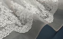 Court Train A-Line Applique Beaded Sheer Lace Tulle Wedding Gown image 8