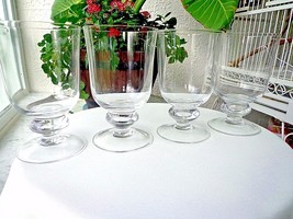 Set of 4 Premium Quality Clear Crystal Ice Tea Goblets - $38.60