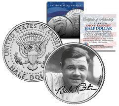 "Babe Ruth ""Portrait"" JFK Kennedy Half Dollar US Coin *Officially Licensed* - $8.86"