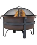 "29 "" Large Bronze Cauldron Outdoor Fire Pit Bowl - Round Wood Burning Patio Fire - $325.00"
