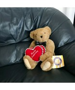 Vermont Teddy Bear Bow Tie Happy Anniversary Heart Tan Plush Stuffed Ani... - $99.99