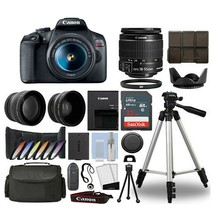 Canon Eos Rebel T7 DSLR Camera 18-55mm with 3 Lenses | 32GB Best Value K... - $672.70