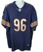 Nike On Field Chicago Bears Akiem Hicks Jersey #96 Size 56 Blue - $84.14