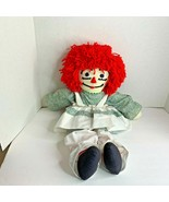 Raggedy Ann Plush stuffed Doll Toy 24 in tall Green white Apron - $25.23