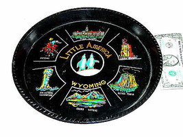 "Little America Wyoming 12"" Round Cheyenne Capital Monument Souvenir Serving Tray - $12.20"