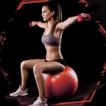 Anti-Burst Heavy Duty Stability Yoga Ball Exercise Birthing Ball Chair Red 55cm - $20.99