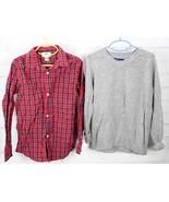 Old Navy Plaid Button Down Shirt + Gap Kids Sweater Boys Size S 6-7 Holi... - $33.66