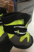 """Pet All Road Boots Sz Small (2"""") Neon Green & Gray 4 In Set  image 5"""
