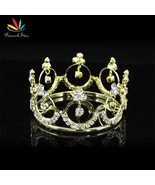 New Born Baby Gold Color Metal Mini Crown Photo Prop Full Circle Round T... - $20.12