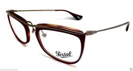 Nuovo Autentico Persol 3083-V 1006 OPACO Burgundy-Brown Rx Occhiali da Sole - $69.97