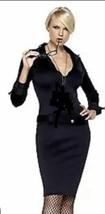 Leg Avenue C.S.I. Dress Only Halloween Costume Small Sexy Black Secretar... - $9.89