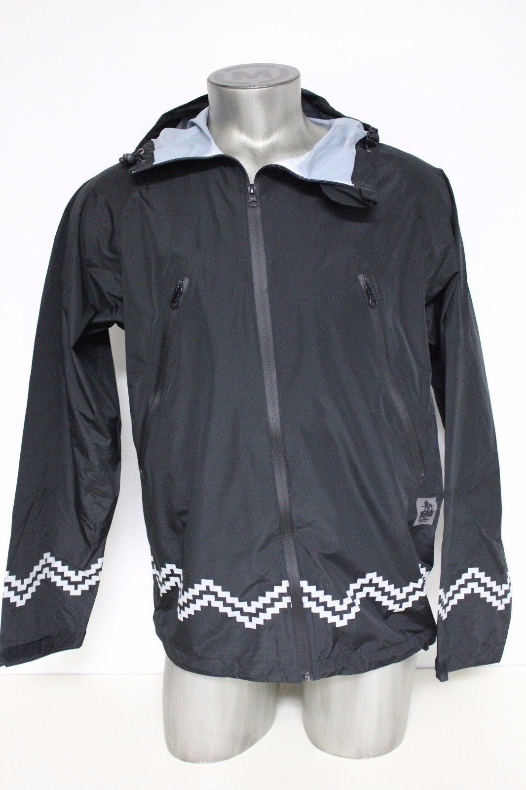 New Crooks & Castles Men's Woven Jacket Polyester Port Authority Black Size XL image 3