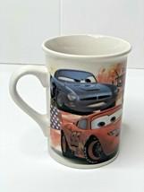 2011 Disney Pixar Cars Coffee Tea Mug Cup Lightning McQueen Tow Mater Finn - $6.76
