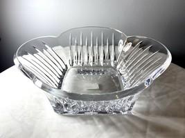 "6LB XL Miller Rogaska Soho Hand Cut Flared Crystal Centerpiece Bowl 10"" ... - $58.00"