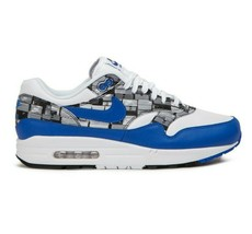 Nike Air Max 1 Print White/Game Royal/Grey Men's Running Shoes AQ0927-100 - $104.95