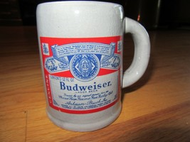"7K/RARE BUDWEISER HIGH GLOSS MUG/MADE IN JAPAN/GRAY/4"" HIGH! - $24.70"