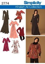 Simplicity Khaliah Ali Collection Pattern 2774 Women's Knit Dresses and ... - $17.64