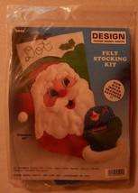 """NEW Design Works Felt Christmas Stocking Kit Santa & Snow Globe 5022 16"""" Long - $22.99"""