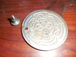 Japan Deluxe Rear Mounted Inspection Plate w/ thumb Screw Nice Etched Design - $12.50