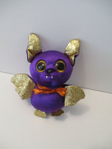 """Ty Beanie Boo 6"""" COUNT the Purple Halloween Bat Plush Purple And Gold St... - $4.85"""
