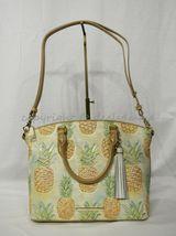 NWT Brahmin Duxbury Leather Satchel/Shoulder Bag in Multi Pompano image 3