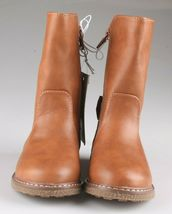 Cat & Jack Girls Toddler Brown Cognac Hermione Tall Fashion Bow Riding Boots image 3