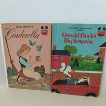 LOT OF 2 WALT DISNEY CINDERELLA 1974 Donald Duck 1982 Wonderful World Of... - $11.88