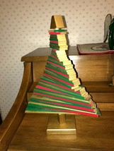 Christmas Tree all wood with moveable pieces to varied shapes - $8.00