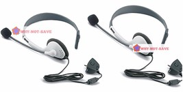 2 x Gaming Headset headphone with Microphone MIC for Xbox 360 Xbox360 Live Slim - $13.99