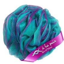Loofah Bath Sponge XL 70g Set of 3 Tropical Colors by À La Paix -Soft Exfoliatin image 3