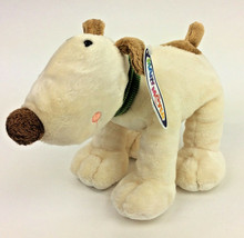 "Mary Meyer Dog So So Schnozz Plush Brown Cream Stuffed Green Collar 10"" NEW - $27.08"