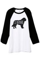 Thread Tank St Bernard Dog Silhouette Unisex 3/4 Sleeves Baseball Raglan T-Shirt - $24.99+