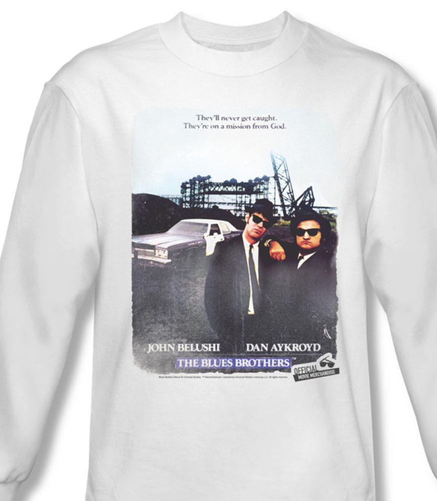 He blues brothers long sleeve belushi aykroyd comedy for sale online graphic white tee uni123 al
