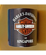 Harley Davidson Motorcycles Singapore Rare Black Ceramic Coffee Tea Mug ... - $49.49