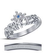 Sterling Silver White GP Disney Princess Cinderella Women's Fashion Crow... - $50.40