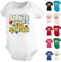 Born to Love my Uncle Funny Kids T shirt Youth tee Baby Toddler bodysuit... - $12.99