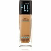 Maybelline Fit Me 322 Warm Honey Matte & Poreless Liquid Foundation Make... - $9.74