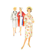 1960s Vintage Simplicity Sewing Pattern 3307 Misses Lined Coat Contrast ... - $9.95