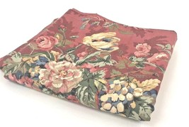"Waverly Red Floral Valance Window Treatment French Country Lined 18"" x 78""  - $89.09"