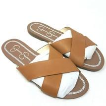 Jessica Simpson Womens Elaney Flat Sandal Sz 8.5 M Brown - $69.87