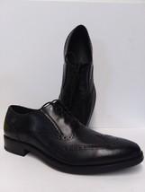 Cole Haan Men Madison Black Wingtip Lace Up Oxford Ii Derby Shoe Size 10 M Nib - $100.35