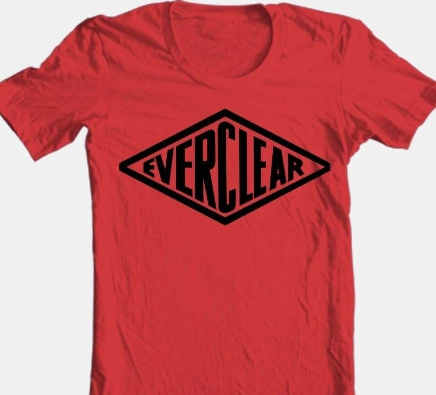 Everclear Grain Alcohol T shirt Free Shipping beer 100% cotton red graphic tee