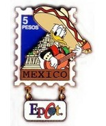 Donald Duck Mexico EPCOT Stamp Pin Series #1Aitjentic Disney  Pin LE 500 - $75.00