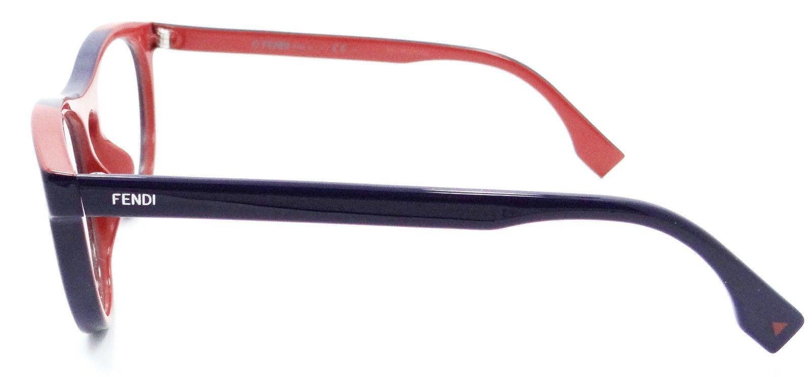 Fendi Rx Eyeglasses Frames FF 0123 MFW 51-17-140 Blue / Brick Made in Italy