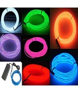 7 Pack-9ft Neon Light El Wire w/Battery Pack (Green, Blue, Red, Orange - $29.22