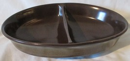 """Franciscan Madeira 10 3/8""""  Oval Divided Serving Bowl brown - $32.56"""