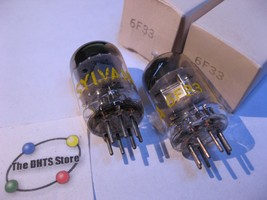 6F33 Sylvania Tube Valve Tested In Box Qty 2 - $9.98